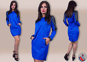 Платье вставки экокожа  21/667, фото 2