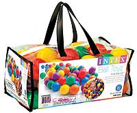 Шарики мячи 100 шт пластмассовые для сухого бассейна для детей Intex 49602