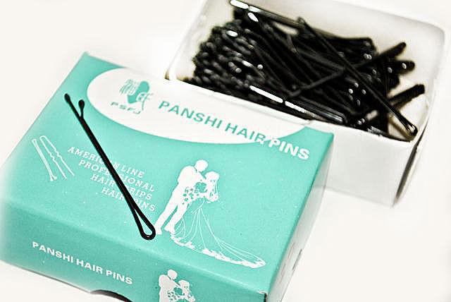 Черные невидимки для волос упаковка 150 шт.