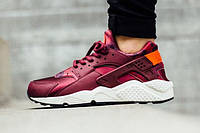 "Кроссовки женские Nike Air Huarache Run Print Deep Garnet ""Бордовые"" р.37-39, фото 1"
