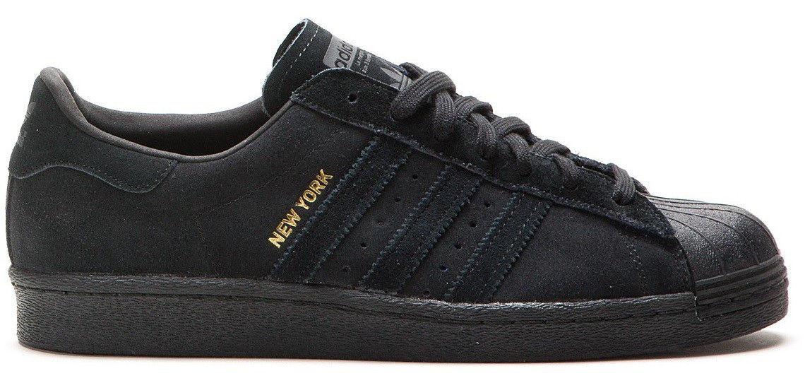 Мужские кроссовки Adidas Superstar New York в черном цвете