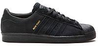 Мужские кроссовки Adidas Superstar New York в черном цвете, фото 1