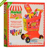 Игровой набор детский Тележка с продуктами Супермаркет 16671B