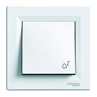 """Выключатель кнопочный """"Звонок"""" Schneider Electric Asfora, белый"""