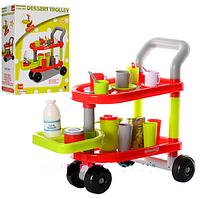 Тележка детская игровая для посуды и продуктов 14034A