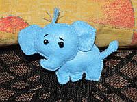 Маленький слоник фетровый.