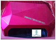 Профессиональная гибридная уф лампа CCFL+LED 36 вт Diamond фуксия