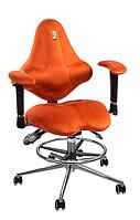 Ортопедическое детское кресло Кулик-Систем Кидс KIDS (оранжевый, морковный)