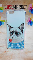 Чехол силиконовый бампер для Iphone 6 с рисунком Кот пират
