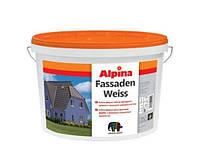 Краска дисперсионная ALPINA FASSADENWEISS фасадная, транспарентная (база В3), 2,35л