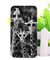 Силиконовый чехол бампер для Iphone 8 plus с рисунком Жирафы