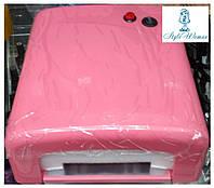 УФ лампа 36W c таймером YRE розовая