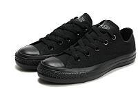 """Кеды мужские Converse Original Low All Black """"Конверсы полностью черные"""""""