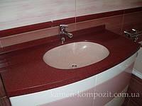 Столешница в ванную с нижним креплением раковины