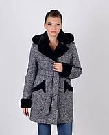 Пальто зимнее твид мутон