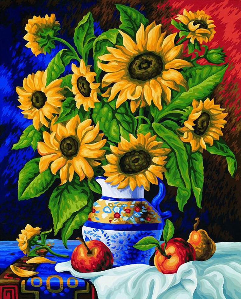 Картина по номерам «Идейка» (КНО088) Букет подсолнухов, 40x50 см