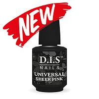 Камуфлирующее финишное покрытие D.I.S Nails UNIVERSAL SHEER PINK TOP  15 мл.