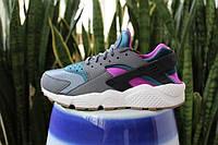 Женские кроссовки Nike Air Huarache Ultra Black/Blue/Violet, фото 1