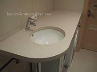 Столешница в ванную с нижней раковиной