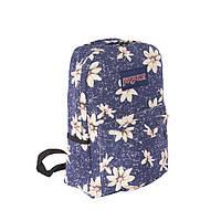 Красивый модный и практичный рюкзак джинс в цветы.