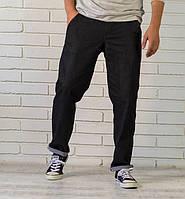 Мужские  джинсы свободного кроя черные