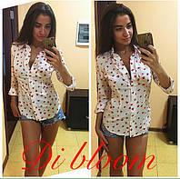 Женская стильная рубашка в сердечко (4 расцветки)
