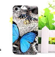 Чехол силиконовый бампер для Iphone 6 с рисунком Бабочка