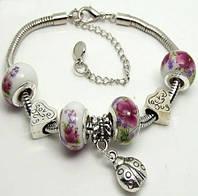 Очаровательный женский браслет в стиле Pandora. Пандора