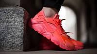 Женские кроссовки Nike Air Huarache красные, фото 1