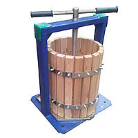 Ручной пресс для винограда Вилен 25 л дубовый