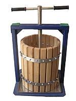 Винтовой пресс для винограда Вилен 20 л дубовый