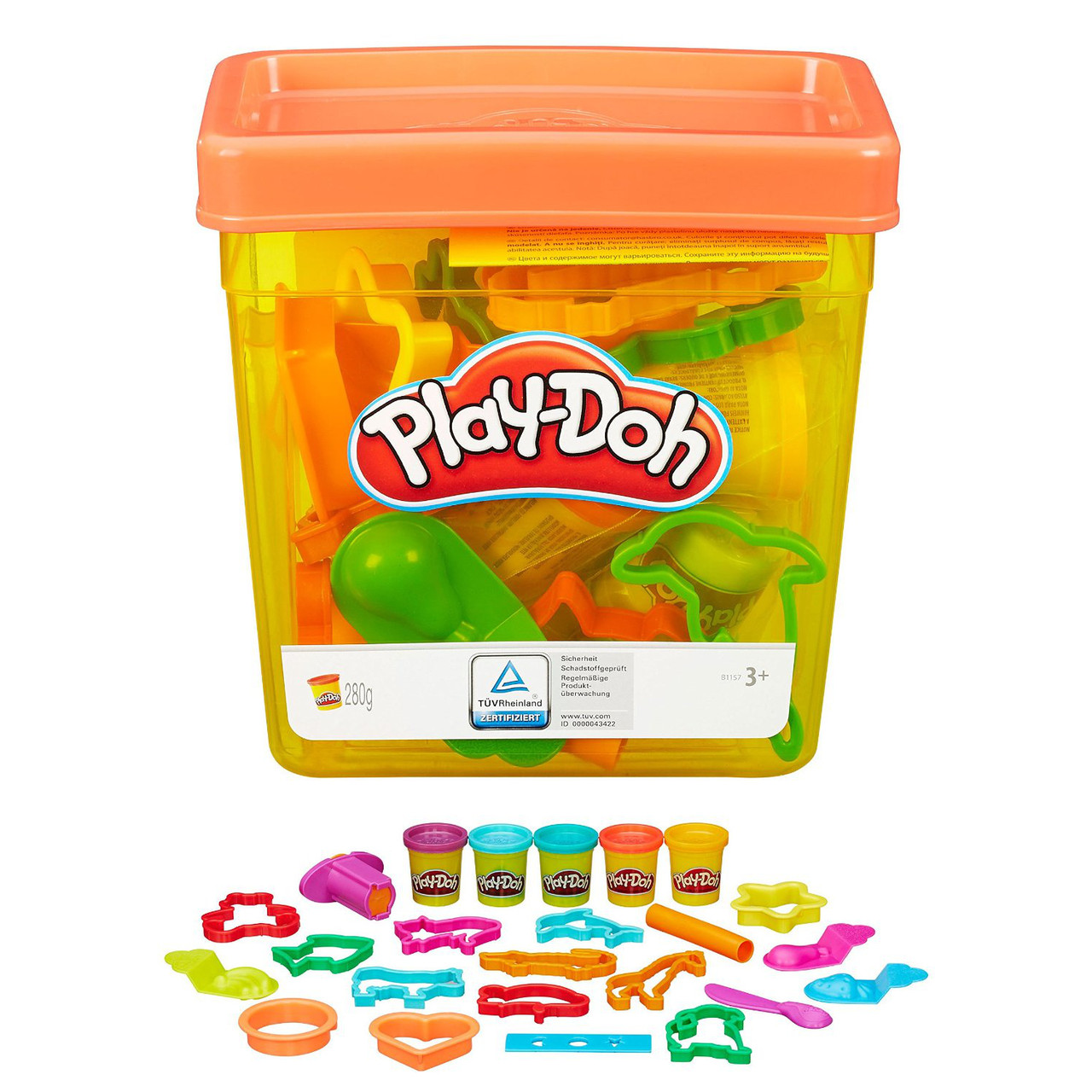 Play-Doh Набор пластилина Контейнер с инструментами Fun Tub B1157