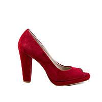 Туфли женские кожаные El Passo 1632 красн., фото 1