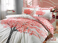 Комплект постельного белья 200х220 HOBBY Poplin Florentina персиковый