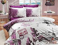 Комплект постельного белья 200х220 HOBBY Poplin  İst.Panorama сиреневый