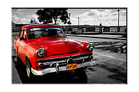 Картина на холсте Раритет авто (20х30)