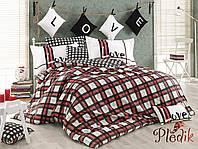 Комплект постельного белья 200х220 HOBBY Poplin  Love Code красный