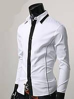 Мужская стильная рубашка Лео с длинным рукавом