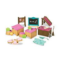 """Детский игровой набор Woodzeez """" классная комната, школа"""" мебель  для семьи зверят"""
