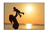 Картина на холсте Мать и ребенок (20х30)