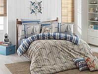 Комплект постельного белья 200х220 HOBBY Poplin Marinella синий