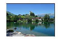 Картина на холсте Дом у озера (50х75)