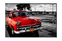 Картина на холсте Раритет авто (40х60)