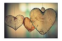 Картина на холсте Сердце (40х60)