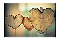 Картина на холсте Сердце (50х75)