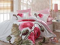 Комплект постельного белья 200х220 HOBBY Poplin Miray розовый