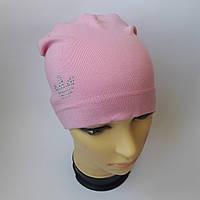 Детская трикотажная шапка для девочки 8-11 лет оптом