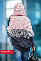 Вязанная кофта крупной вязки с капюшоном