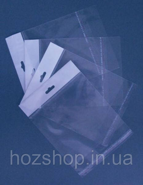 Пакети поліпропіленові з еврослотом 22x25+4/25мк 1000 штук