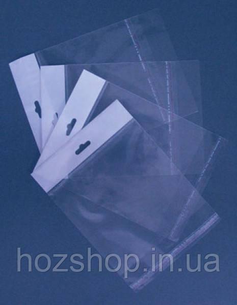 Пакеты полипропиленовые с еврослотом 14x22+4/25мк